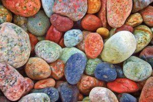 Gekleurde steentjes