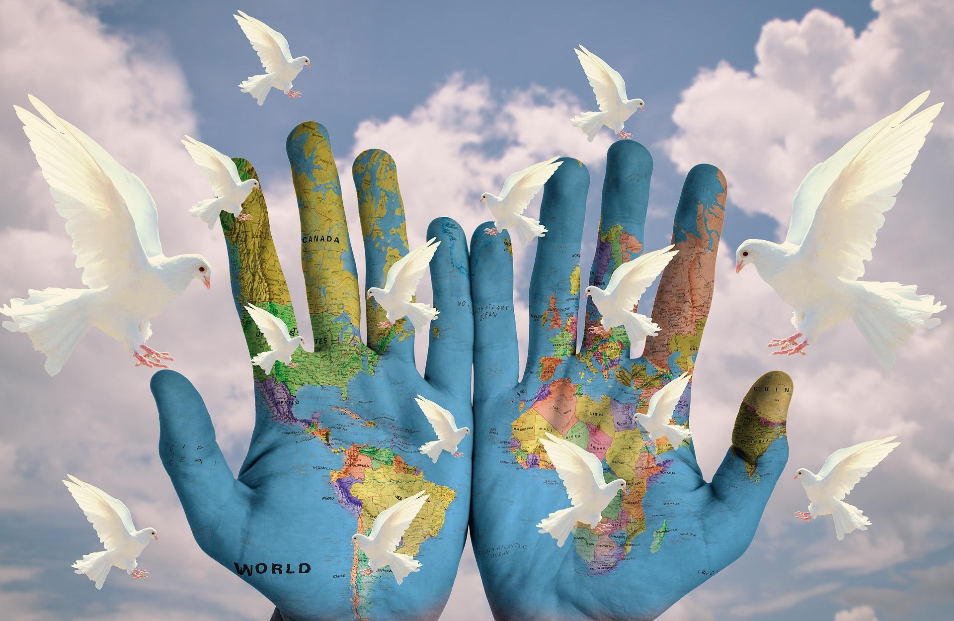 Wereldvrede duiven