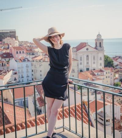 Willy in Lissabon met hoed