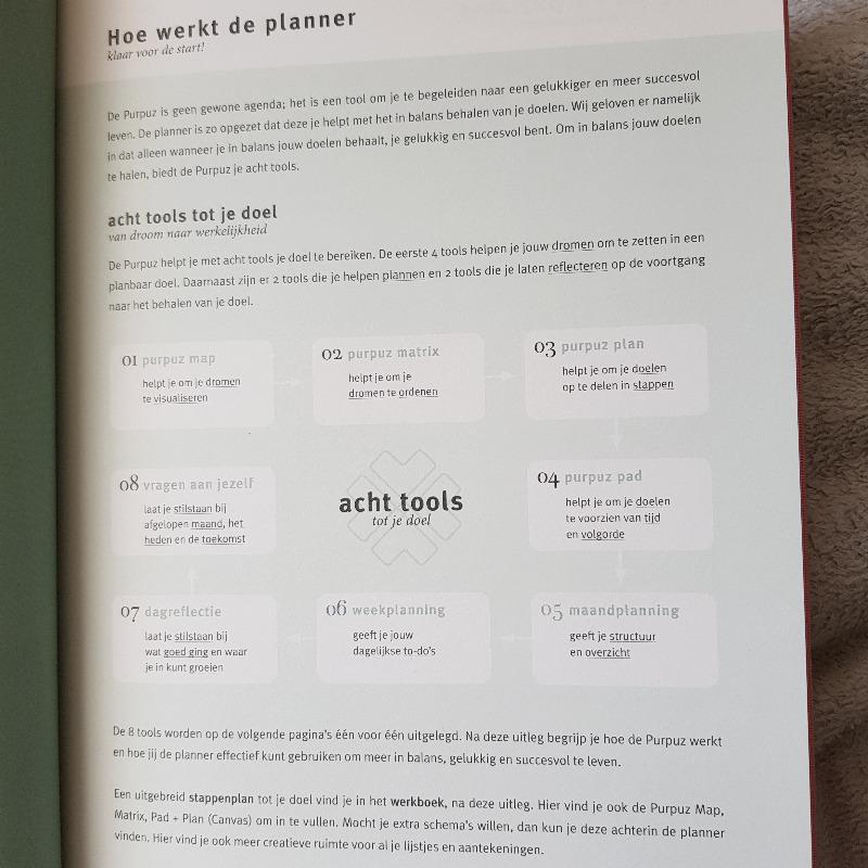 8 tools van de Purpuz planner